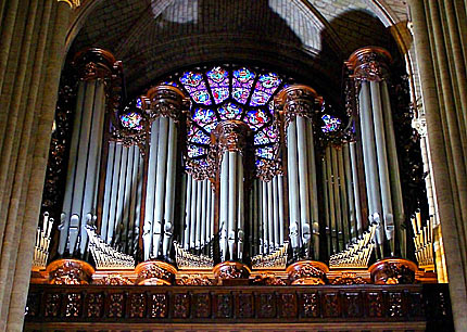 Orgel in der Kathedrale Notre-Dame de Paris